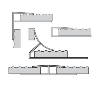 Polyesterplate finishing profiles