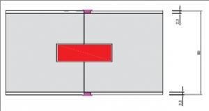 Sandwichpaneel 80mm 2-componentenlijm verbinding