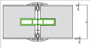 Sandwichpaneel 80mm 2 delige clip afdekprofiel