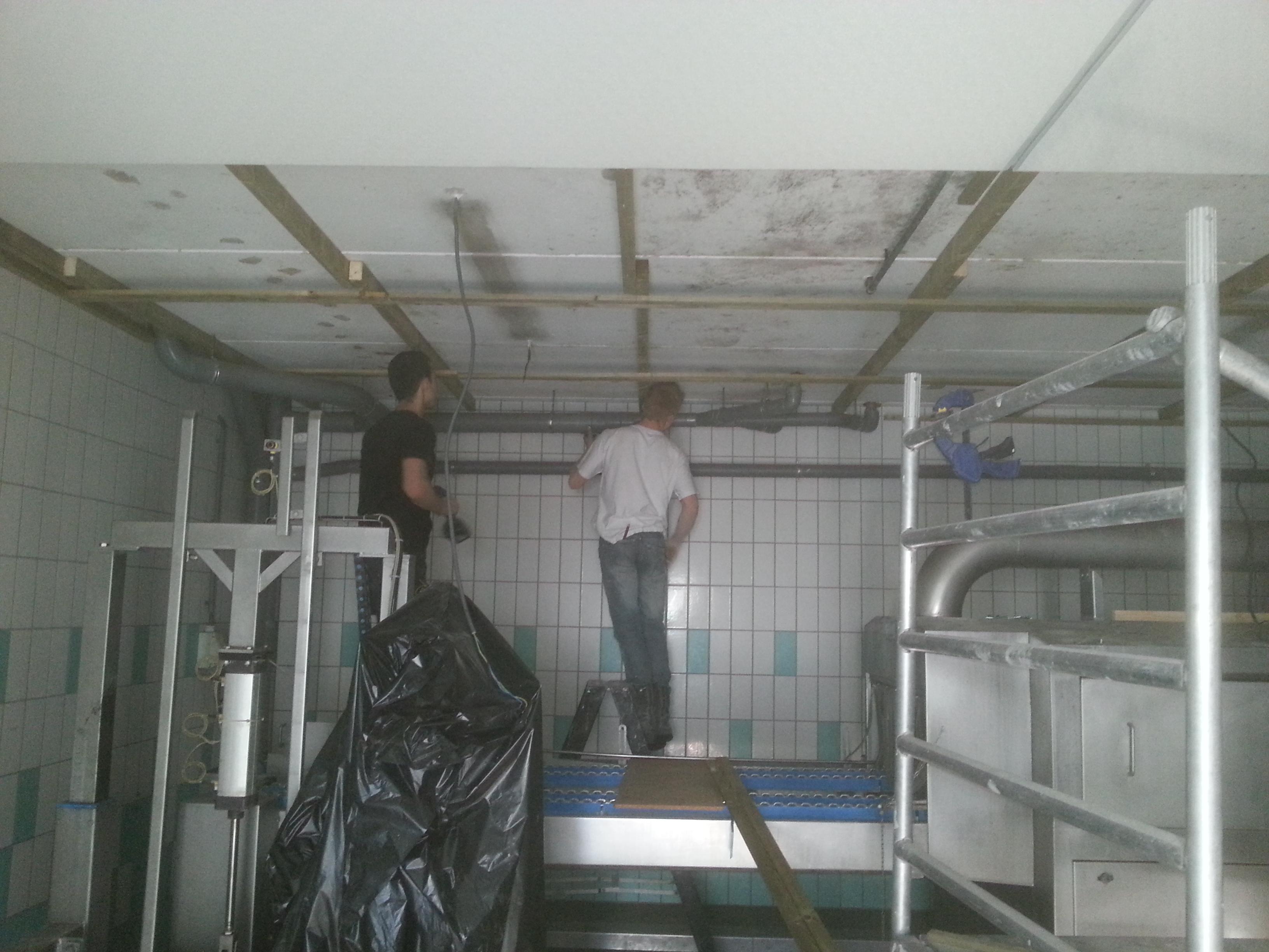 Plafond renovatie in een productieruimte - voldoet aan ...